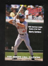 Marty Cordova--Minnesota Twins--1996 Pocket Schedule--SuperAmerica