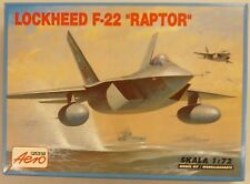 Aero 1/72 Lockheed F22 Raptor Strike Fighter Model Kit