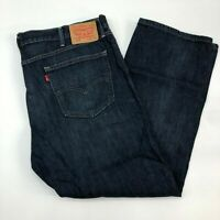 Levi Strauss & Co 505 Straight Jeans Men's Size 42 Dark Wash Mid Rise Cotton