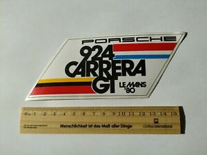 Sticker / Aufkleber, Porsche 924 Carrera, Le Man's 80 alt