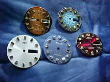 FIVE 5 VINTAGE 1960'S SWISS TECHNOS AUTOMATIC WATCH DIALS DAY/DATE X/F