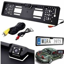 Mega MEG-3939-421 Portatarga con Telecamera Retromarcia con 4 LED Infrarossi per Auto - Nera