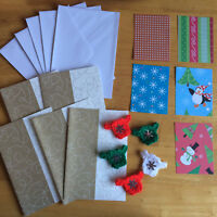 Christmas Card kit Craft DIYswirly Cards envelopes jumper embellishments papers