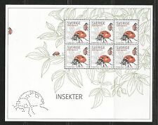 Sweden 2008 Local Insects ss--Attractive Topical (2578) MNH