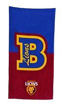 *NEW* LARGE Licensed AFL Brisbane Lions Beach Bath Gym Towel Fathers Day Gift