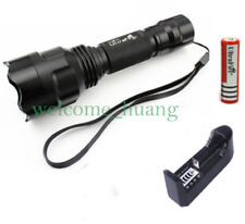 UltraFire 1 Mode C8 CREE T6 LED Flashlight 2200LM Light 18650 Battery + Charger