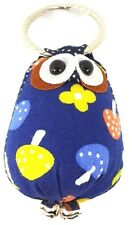 1 BLUE  OWL  KEYCHAIN KEYBAG KEYRING  ART COLLECTIBLE  HANDCRAFT GIFT SOUVENIR