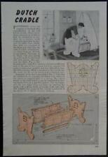 Dutch Cradle 1948 How-To build PLANS Take Apart Design