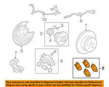 TOYOTA OEM 14-17 Corolla Brake-Rear Pads 0446602310