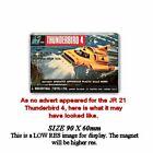 RETRO   JR21 THUNDERBIRDS TOY - THUNDERBIRD 4   ADVERT JUMBO FRIDGE MAGNET