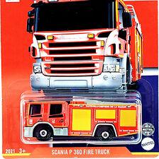 #9 Scania P 360 🚒 Fire Truck 🚒 FRANCE * 2021 Matchbox 🌎 GLOBAL Case B