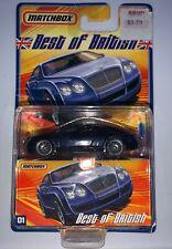 MATCHBOX - Best of British - #1 Bentley Continental GT Dark Blue New