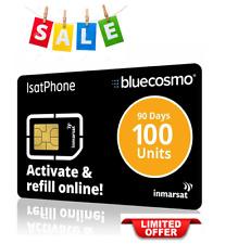 100 Isatphone Unit Global Satellite Phone Prepaid Service Sim Card For Inmarsat