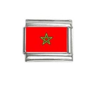 Italian Charms Charm Flags Morocco Moroccan Flag