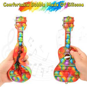 Pop Fidget Toy Push It Simple Dimple Bubble Sensory Toy Stress Relief Guitar