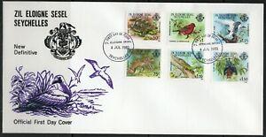 Seychelles ZES 1-16 FDC 04.07.1980 Fauna Flora Dauerserie