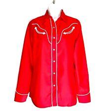 New listing H Bar C Ranchwear San Fernando Red Rodeo Western Cowgirl Shirt Size S Womens