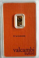 Goldbarren 1g Valcambi, Gold 999,9 - LBMA zertifiziert ?