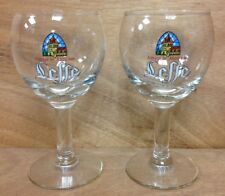Leffe Belgium Beer 25 cl Chalice Glass - Quality - Set of TWO (2) Glasses - NEW