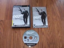 Playstation 2 Game - 007 - QUANTUM OF SOLACE - BOND - COMPLETE - FREE SHIPPING