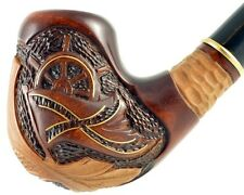 """Carved smoking pipe *Steering wheel* (Cooling filter)   pipes - 6.1"""" (15,5cm)"""