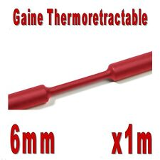 Gaine Thermo Rétractable Rouge 2:1 - Diam. 6 mm - 1m