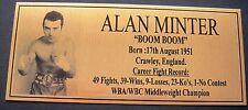 Boxing Alan Minter Photo  Free Postage