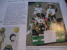 1pg Sasha Doll MAGAZINE Article COUNTRY FAIR THEME 1997 Urbandale, Iowa