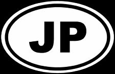 Japan Sticker JP Country Code Vinyl Decal Euro Oval Car