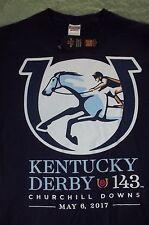 """2017 KENTUCKY DERBY""""143"""" SHIRT BLUE  XLARGE"""