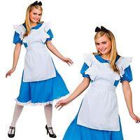 ADULTS LADIES STORYBOOK ALICE IN WONDERLAND BOOK WEEK FANCY DRESS COSTUME OUTFIT