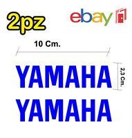 2x adesivi YAMAHA per moto e scooter - colore blu elettrico - racing moto