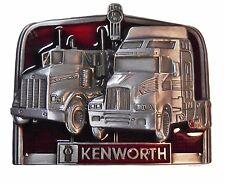 KENWORTH TRUCKS Pewter Finish Metal/Enamel BELT BUCKLE