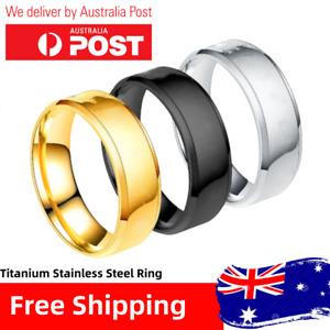 Titanium Stainless Steel Brushed/Polished Finish Men Women Wedding Band Ring