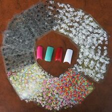 25 Sheets 3D Design Nail Art Sticker Tips Decal Flower Manicure Stickers DIY UK