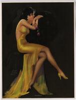 Original 1930s Irene Patten Glamorous Art Deco Pin-Up Print The Golden Girl