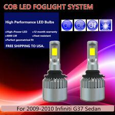 2* US Stock PHILIPS COB Running Lamps LED Fog Light For 09-10 Infiniti G37 Sedan