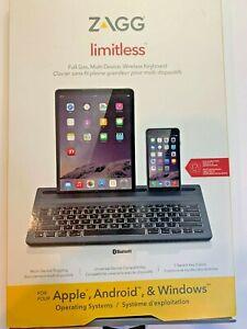 ZAGG Limitless, Full-Size, Multi Device Wireless Keyboard Bluetooth