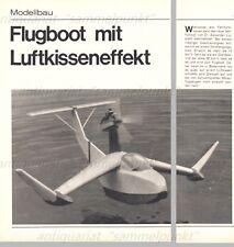 Bauplan Modell Lippisch RFB X-113 Bodeneffektfahrzeug / WIG - Original von 1972