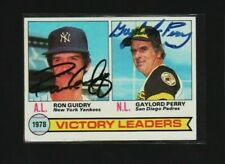 1979 Topps #5 Victory Leaders Signed Autograph Guidry Perry yankees padres