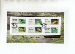 """Christopher Wormwell """"Pond Life"""" Signed Buckingham Covers 2013 FDC"""