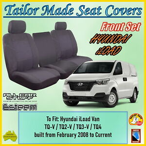 Tailor Made Grey Seat Covers to fit Hyundai iLoad TQ Van from 02/2008 to Current