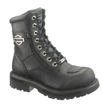 """NEW Harley-Davidson® Womens 6"""" SYDNEY Lace Black Leather Motorcycle Boots D87005"""