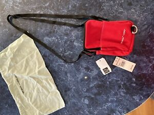 Authentic Off-White Red Denim Crossbody Hip Bag Off white MSRP $515
