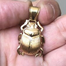 Gorgeous Fancy Design ANKH EYE  Scarab Pendant 18K YG Detailed Craftsmanship