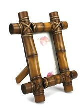 "Thai Bamboo Photo Frame to hold 6"" x 4"" photos. Handmade from Thailand."