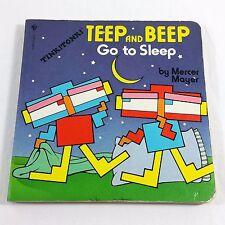 Teep And Beep Go To Sleep By Mercer Mayer 1984 Tink Tonk Board Book Japan VTG