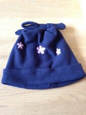 Next 3-6 Years Navy Blue With Pink Flowers Hat