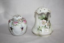 Two Vintage Salt Shakers, Hand Painted, One German and One Unbranded