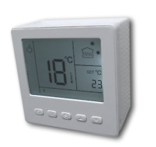 Digital Thermostat Room Thermostat Weekly Program White for Surface Mount #857ap